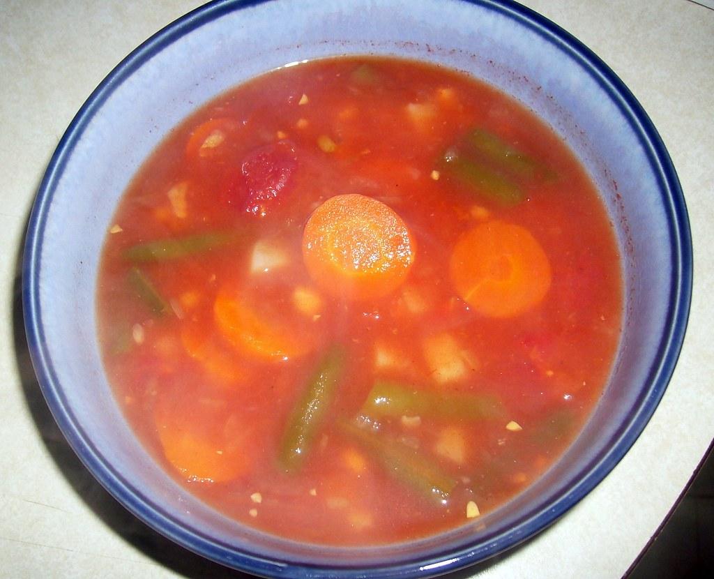 Homemade vegan vegetable soup