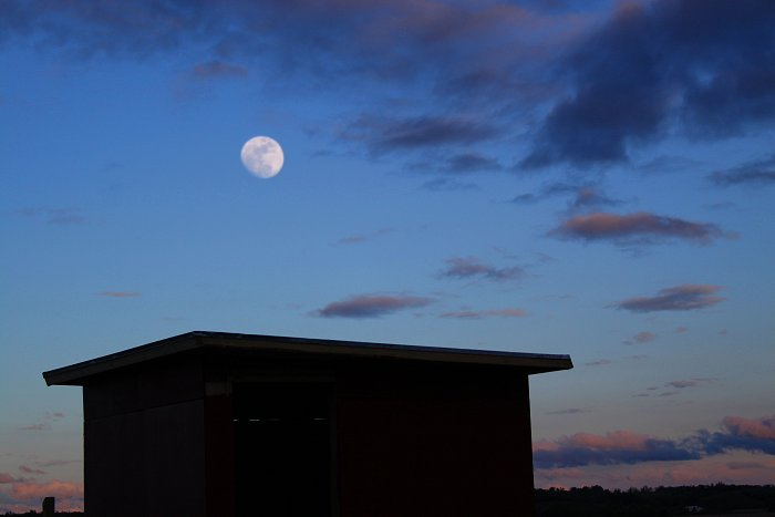 Moon Rise over the coop