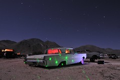 (picturenarrative) Tags: auto california usa lightpainting abandoned monument car night stars death ruins decay urbanexploration americana moonlight junkyard recycle derelict boneyard startrails mojavedesert urbex highway395 nocturnes uer pearsonville automobilies
