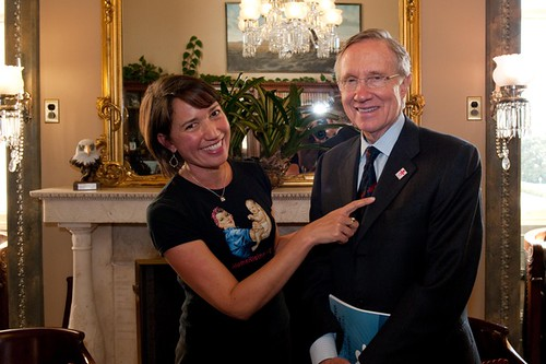 Donna Norton and Senate Majority Leader Harry Reid