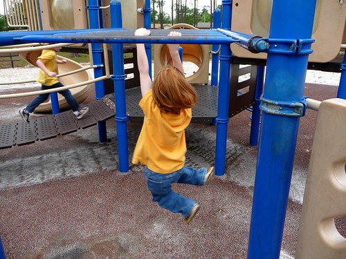 Gus on the monkey bars