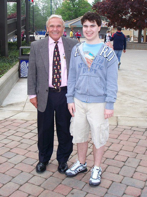 Cedar Point - Me with Dick Kinzel