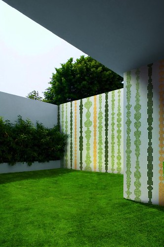 Exterior Design with Mosaic Tile by Bisazza