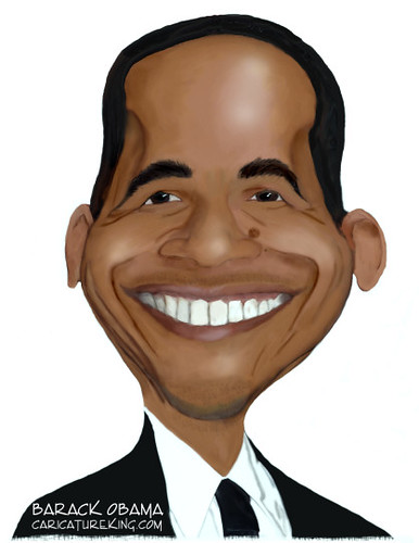 Caricature of Barack Obama