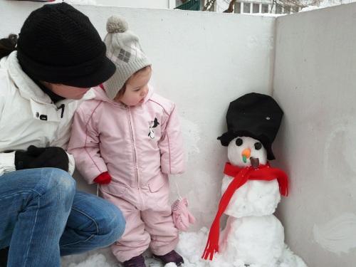 Mein erster Schneemann