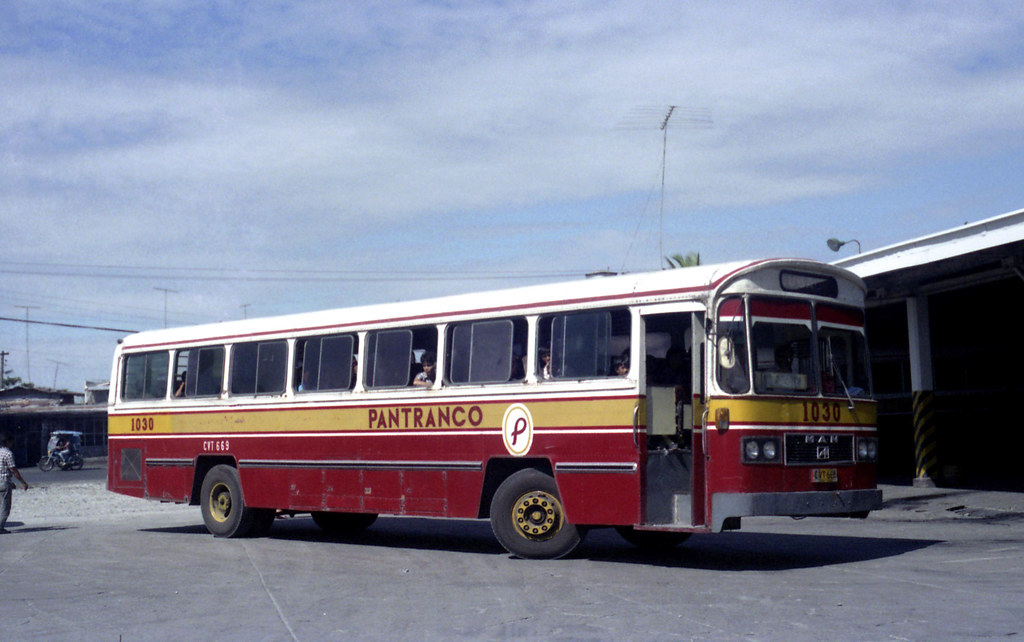 Pantranco M.A.N CVT-669 (fleet No 1030) leaving terminal in Alaminos, Pangasinan, Philippines.