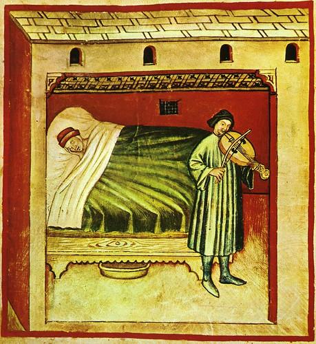 013- Induciendo el sueño con musica-TACUINUM SANITATIS- Biblioteca Casanetense Ms. 4182