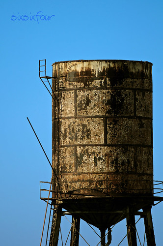 water tower missing it's lid