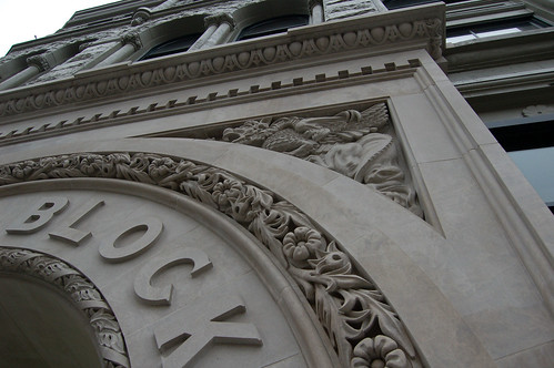 Stonework on Facade of Flack Block