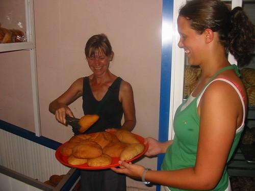 Goed bediend in de bakkerij in Palenque