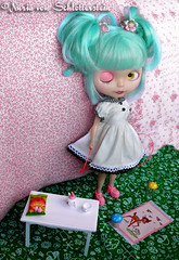 Lluvia von S. (Nuria von Schlotterstein) Tags: pink blue cute make up lluvia doll rice ooak von nuria sally blythe bambi custom rement miss wink takara msr patri dolland schlotterstein