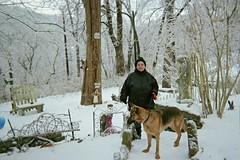 Trooper and me (junebug_1944) Tags: icestorm eurekaspringsar january2009