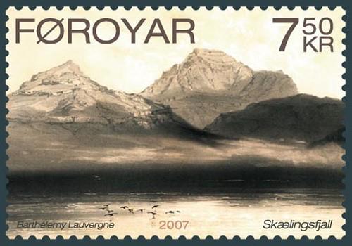 022-Timbre postal de la expedicion La Recherche 2
