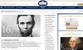 White House Presidents page cp sm