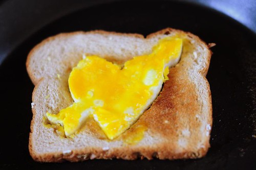 Heart and Arrow Egg Toast