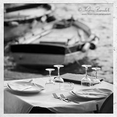 lunch is served () Tags: sea fish andy table lunch outside restaurant boat chair barca mare bokeh andrea andrew tavolo rs ristorante sedia alfresco pesce pranzo fuori trattoria benedetti