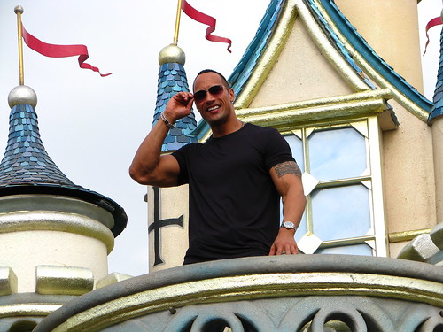 Dwayne Johnson interview at HK Disneyland as a part of movie Race to Witch Mountain asian junket.