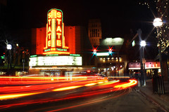 The State Theater (thisisbrianfisher) Tags: road street city urban car night dark liberty drive evening long exposure theater downtown glow traffic state streak michigan brian annarbor trail arbor fisher ann passing bfish brianfisher thisisbrianfisher