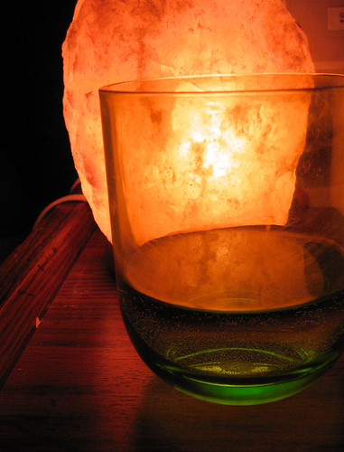 Salt lamp and cup