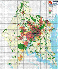 map as prepared for metro Washington's Reality Check (by: U of Maryland Natl Smart Growth Center)
