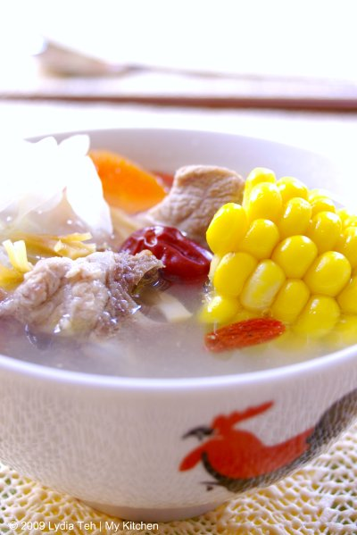 Sweet Corn-Pork Ribs Soup