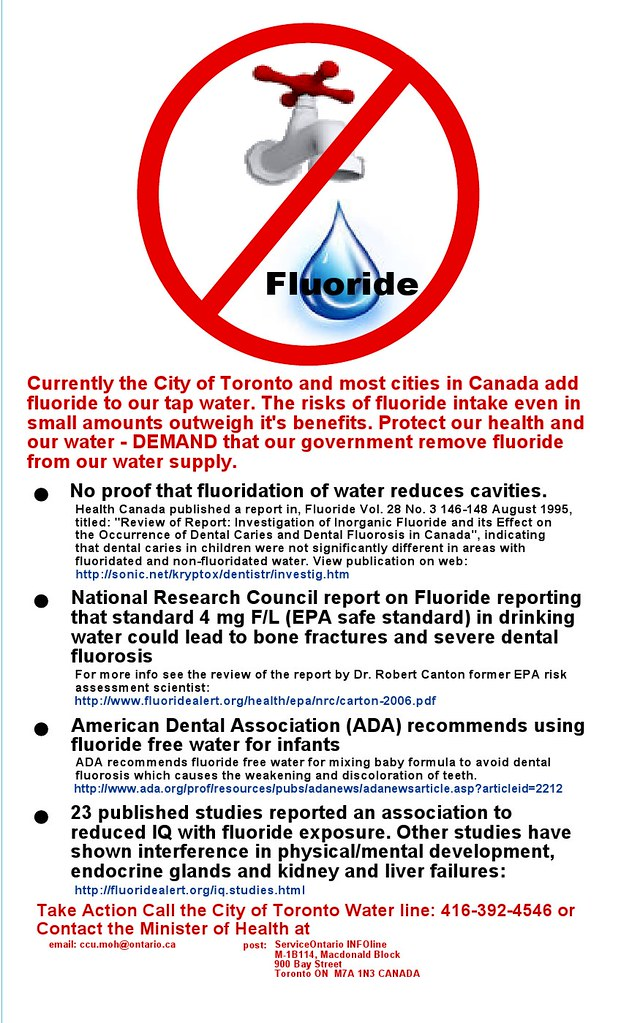 Fluoride Informational Poster