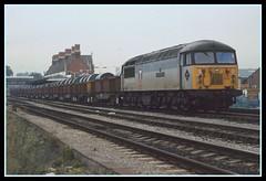 Transrail 56.073 at Hereford station (SemmyTrailer) Tags: train steel railway brush locomotive hereford 56 transrail