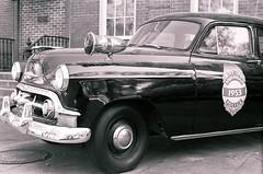 Savannah Police (Burrosito_Bandito) Tags: road old trip atlanta vacation white black classic car vintage georgia cops ride minolta kodak south picture police professional photograph vehicle savannah xg1 bw400cn