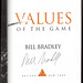 """Values of the Game"" signed by Bill Bradley"