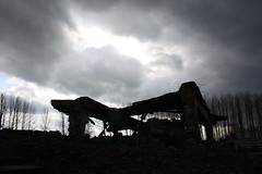 Gesprengte Gaskammer und Krematorium (Alex-Skywalker) Tags: friedhof march holocaust shoa zivi polen auschwitz 2009 birkenau schrecken zyklonb rstzeit gaskammer