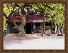 Luckenbach, Texas at rush hour.
