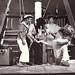 Seaman O'Doherty, Captain Jim, Trina Brown and Taffy the Lion