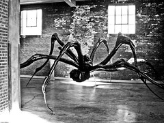 Crouching Spider, Hidden Camera (johnwilliamsphd) Tags: sculpture copyright ny newyork art museum john spider gallery factory williams box c dia louise bourgeois maman beacon diabeacon crouching nabisco  williams john johncwilliams artgalleryandmuseums johnwilliamsphd phd
