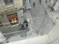 cops and chestnut roaster ermou st athens