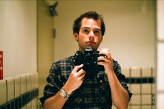 (.. glory fades) Tags: new portrait self canon bathroom 50mm mirror fuji superia f14 f1 400 fd