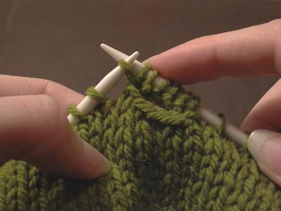 how to pass first stitch over