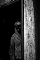 وقد يجمع الله الشتيتين  بعدما يظنان كل الظن أن لا تلاقيا .. (| Rashid AlKuwari | Qatar) Tags: old bw guy sadness sad darkness souq doha qatar rashid wagif lonley soug waqif alkuwari lkuwari