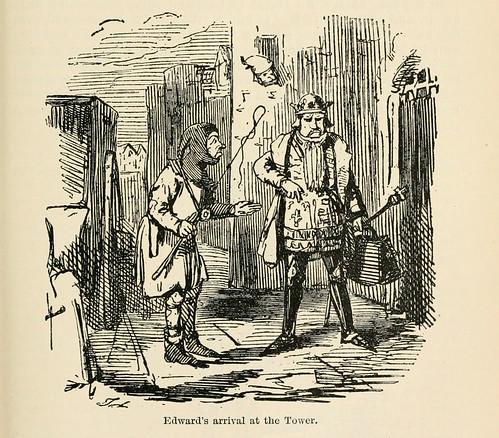 024-El rey Edward a su llegada a la Torre de Londres