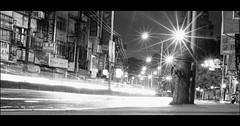 Night Shift (Yubai K) Tags: street light urban blackandwhite streets night photography asia shadows taiwan midnight streetphoto lonely taipei curve   cinematic blackdiamond  nikond80