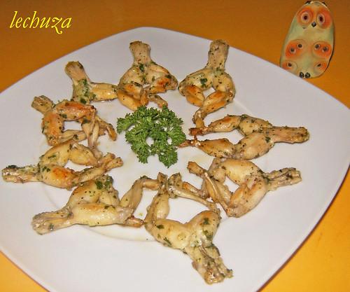 Ancas de rana-fritas plancha