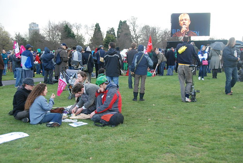 A nice picnic at the G20 march