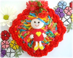 Parabns Dani!!! (Lidia Luz) Tags: doll handmade crochet dani afghan boneca croch bananacraft lidialuz