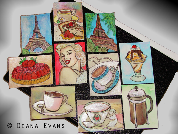 Mini-Paintings - Cubical Fine Art for any office...