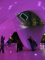 Ben Van Berkel's Burnham Pavilion by night (silverfuture) Tags: chicago millenniumpark chicagoist benvanberkel burnhampavilion 23silverfuture23