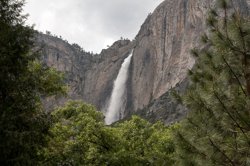 Sideways View of Yosemite Falls