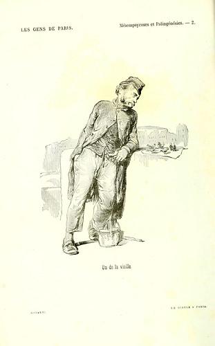 007-Metempicosis y Palingenesis-Cuento de la vieja-dibujo de Gavarni
