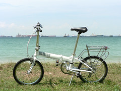 Dahon Vitesse D7 (chinnian) Tags: cloud white bicycle singapore 2009 ecp foldingbike dahon eastcoastpark pcn foldie vd7 vitessed7 parkconnectornetwork