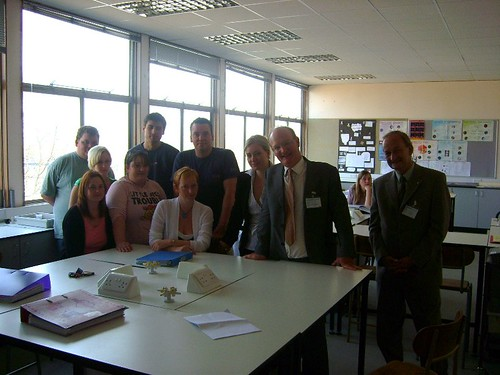 Nicola and David Willets with students at Abingdon & Witney College by
