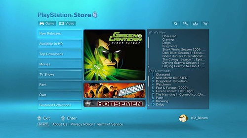 PlayStation Video Store Update 8/7
