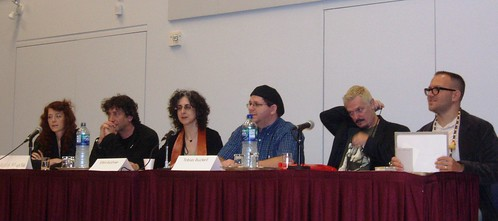 The New Media Panel at WorldCon 2009.